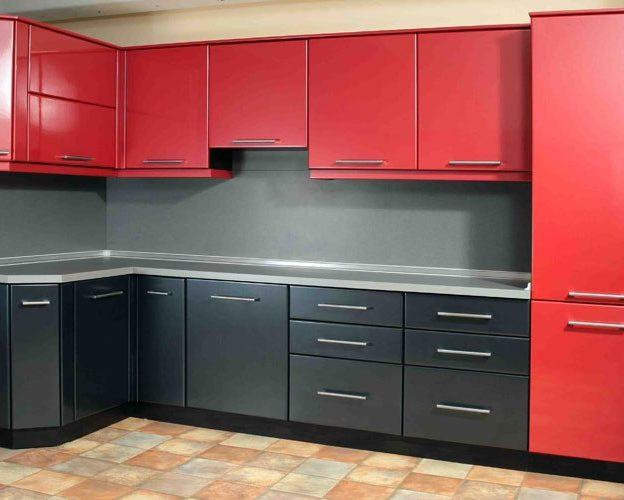 Красно-черный кухонный гарнитур