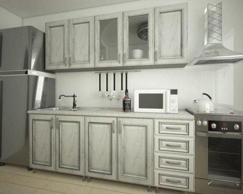 Кухня белое дерево