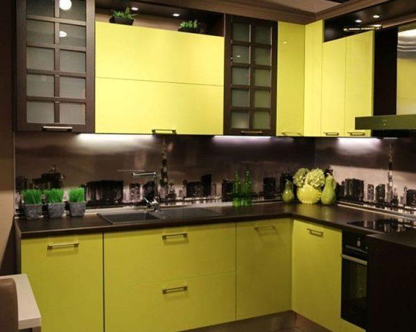 Желтая кухня на заказ