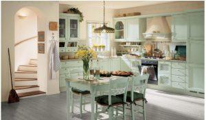 светло зеленая кухня в стиле прованс