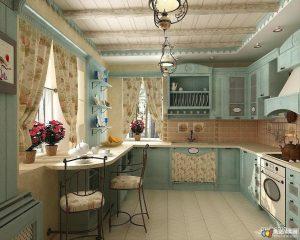 кухонный гарнитур на заказ в стиле прованс