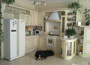 п-образный кухонный гарнитур прованс